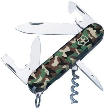 Victorinox Swiss Army 91mm/3.58in Spartan Pocket Knife, Camo