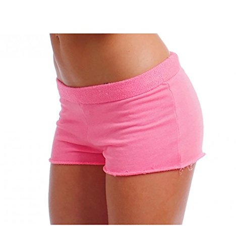 Women's Sexy Yoga Booty Pilates Frensh Terry Shorts Pink