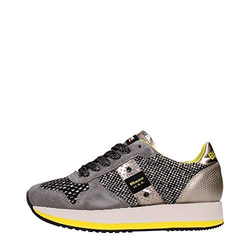 Blauer USA 6FWOFASRUN/WOL Sneakers Donna Scamosciato Grey Grey 37