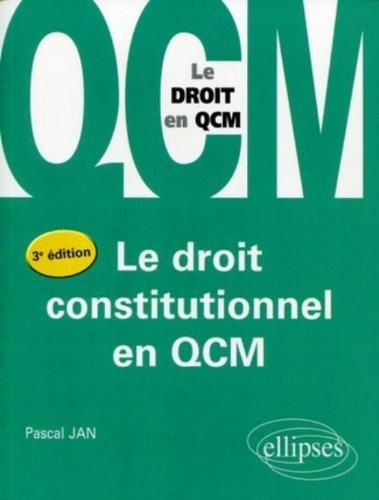 Le droit constitutionnel en QCM