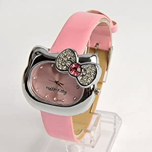 Hello Kitty Girls Wristwatch Wrist Watch Pink