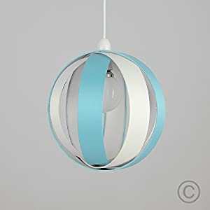 Modern Fabric Cocoon Globe Style Ceiling Pendant Light Shade from MiniSun