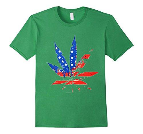 US-Flag-Marijuana-Leaf-Novelty-Gift-Shirt