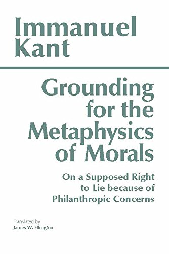 groundwork for metaphysics of morals by Published in 1785, immanuel kant's groundwork of the metaphysics of morals ranks alongside plato's republic and aristotle's nicomachean ethics as one of the most profound and influential works in moral philosophy ever written.