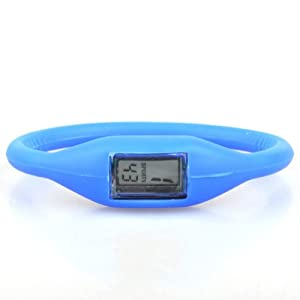 NEEWER® Blue Sport Band Silicone Watch Date Time Water Resist