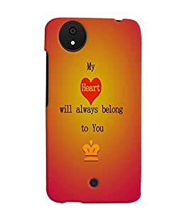 Fuson 3D Printed Love Designer back case cover for Micromax Android A1 - D4527