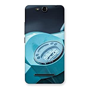 Stylish Scooter Meter Multicolor Back Case Cover for Micromax Canvas Juice 3 Q392