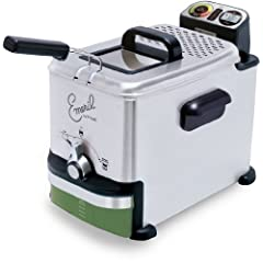 Emeril by T-fal FR7015001 2.65-Pound / 3.3-Liter Stainless Steel Digital Immersion Deep Fryer with Easy Clean System Silver