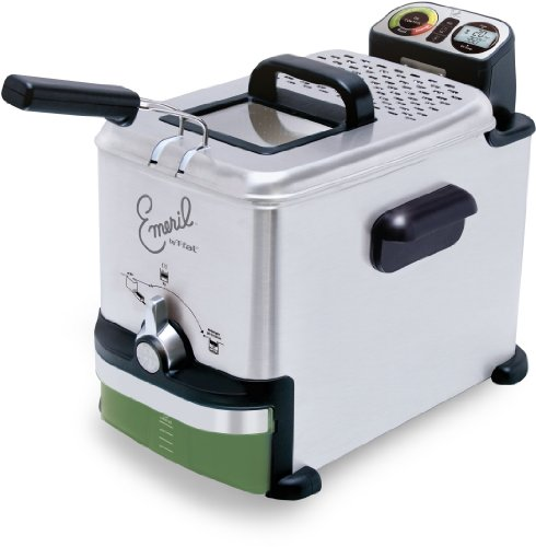 Emeril by T-fal FR7015001 2.65-Pound / 3.3-Liter Stainless Steel Digital Immersion Deep Fryer with Easy Clean System, Silver