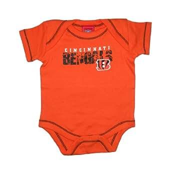 NFL Cincinnati Bengals Baby / Infant One-Piece Short Sleeve Bodysuit / Romper / Onesie (Size: 3-6M )