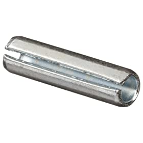 Steel Spring Pin, Zinc Plated Finish, Inch