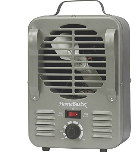 HOMEBASIX LH872 Mini Milk House Heater, 750/1500-watt