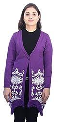 Romano Women's Pretty Purple Winter Sweater Cardigan Shrug