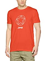 Jeep Camiseta Manga Corta O100564 (Rojo Claro / Blanco)