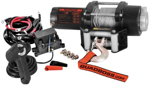 Quadboss 3500Lb Winch With Wire Cable Rp35Wc