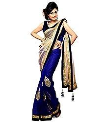 Bhuwal Fashion Women's Net Saree(BF9086_Blue)
