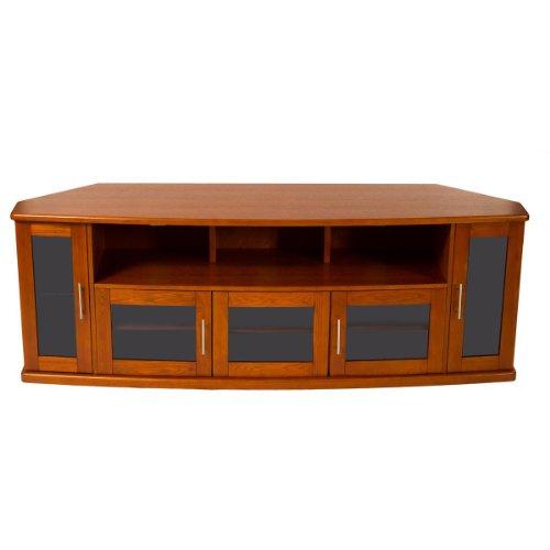 Plateau Newport80W Corner Wood Tv Stand With Walnut Finish, 80-Inch