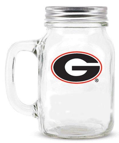 Ncaa Georgia Bulldogs16Oz Glass Mason Jar front-561197