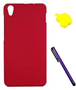 FCS Rubberised Hard Back Case For Lenovo S850 With Card Reader And Capacitive Touch Screen Stylus