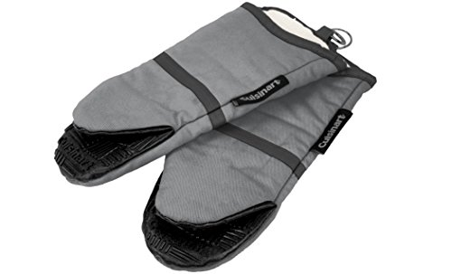 Cuisinart Puppet Oven Mitt with Silicone Grip, Grey, 2-Pack