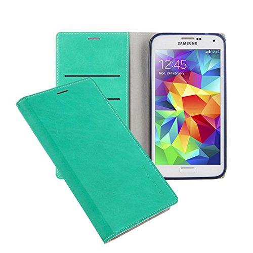 Galaxy S4 ケース Arium Boston Flip Case ギャラクシー S4 手帳型 ビュー フリップ ケース ミント(Mint) / SC-04E 携帯 スマホ スマートフォン モバイル ケース カバー ダイアリー 手帳 ケース カード 収納 ポケット スロット