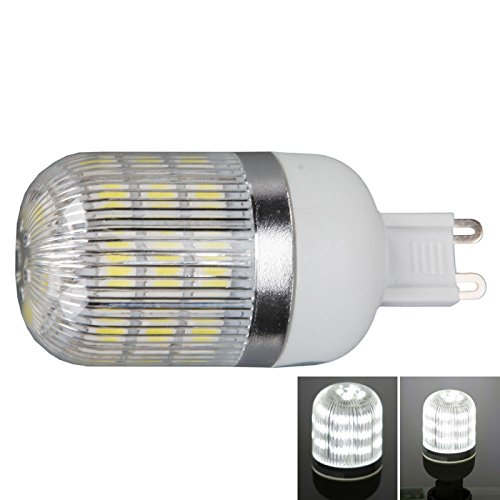 Corn Bulbs - G9 5W 400 Lumen 6000K White Light Corn Light With Silver Side Stripes Cover (220V)