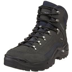 Lowa Men\'s Renegade GTX Mid Hiking Boot,Dark Grey/Navy,10 M US
