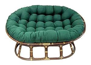 Oval Papasan Cushion W Tufts Base Not Included Indigo
