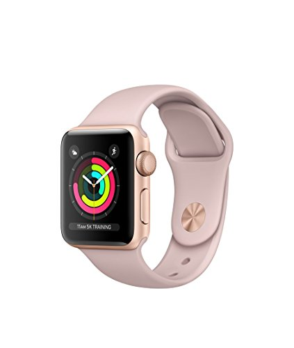 Apple Watch Series 3 – GPS – Gold Aluminum Case with Pink Sand Sport Band – 42mm