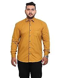 John Pride Men's Casual Shirt 1968444031_Yellow_XXXX-Large