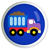Under Construction Blue Truck Knob by Olive Kids