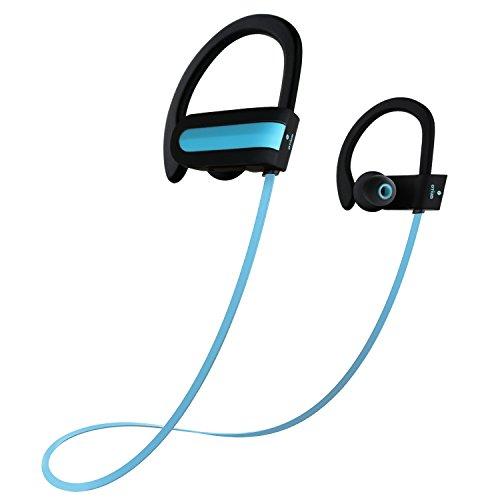 save 50 wireless headphones otium bluetooth wireless sports earbuds sweatproof stereo bass. Black Bedroom Furniture Sets. Home Design Ideas