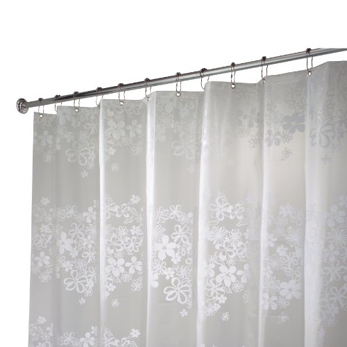 Interdesign Fiore Eva Stall Size Shower Curtain White 54 Inches X 78 Inches