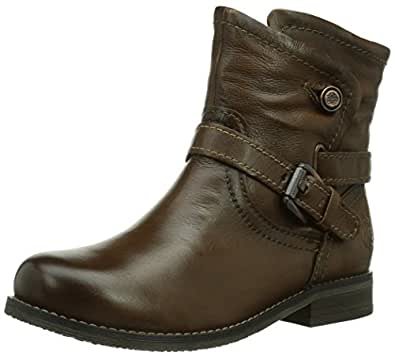 Marco Tozzi Premio 26371, Damen Kurzschaft Stiefel, Braun (Chestnut Antic / 308), 36 EU (3.5 Damen UK)