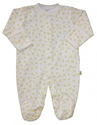 Kissy Kissy Unisex Baby Footie (Baby) - Yellow - 0-3 Months