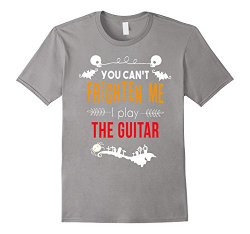 [Men's You can't frighten me I play the guitar Halloween t-shirt Medium Slate] (Orchestra Conductor Costume)