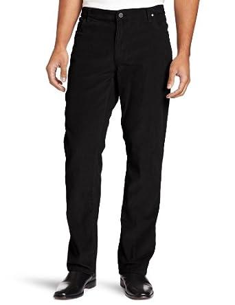 Kenneth Cole New York Men's Five Pocket Corduroy Pant, Black, 38x30