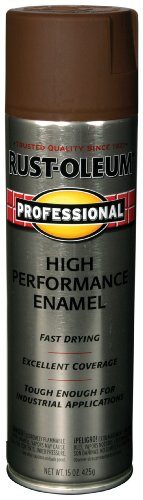 Rust-Oleum 7548838 Professional High Performance Enamel Spray Paint, Dark Brown, 15-Ounce (Dark Brown Spray Paint Gloss compare prices)