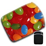Tasty Jelly Beans Jelly Belly Sweets Candy For Apple iPad 1, 2, 3, 4 Soft Protection Neoprene Case Cover Sleeve Bag With Pocket which is Ideal for Headphones, Data Cable etc