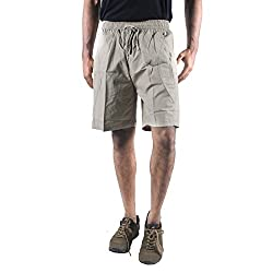 0-Degree Mens Cotton Short (Shortbeige30 _Beige _30)