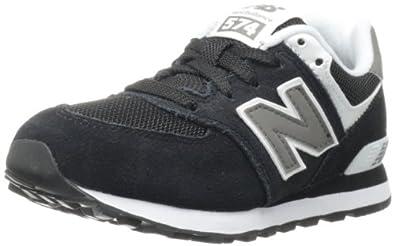 New Balance KL574 Pre Running Shoe (Little Kid),Black,10.5 M US Little Kid