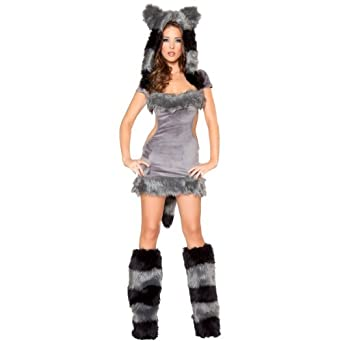 Naughty Raccoon Costume - Small - Dress Size 4