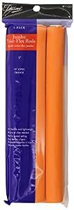 Diane Jumbo Twist-Flex Rod, Orange, 3 count 1 Inch