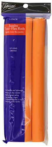Diane Jumbo Twist-Flex Rod, Orange, 3 count 1 Inch (Perm Rods 1 Inch compare prices)