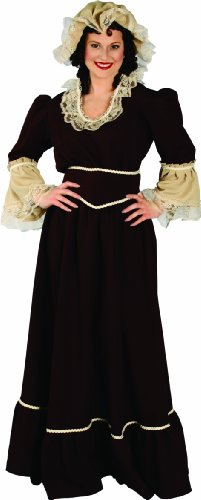 Alexanders Costumes Colonial Woman, Brown, One Size