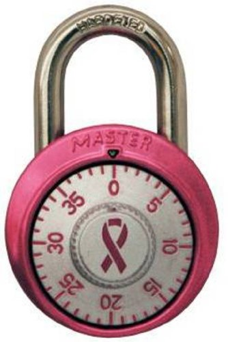 Master Lock 1530DPNK Breast Cancer Research Foundation Dial Combination Lock, Pink