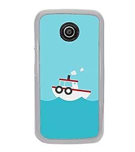 Boat In the Sea 2D Hard Polycarbonate Designer Back Case Cover for Motorola Moto E (1st Gen) :: Motorola Moto E XT1021 :: Motorola Moto E Dual SIM :: Motorola Moto E Dual SIM XT1022 :: Motorola Moto E Dual TV XT1025