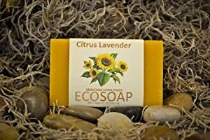 ECO-SOAP Organic Bar Soap Citrus Lavender 4.0 Oz (3 Pack)