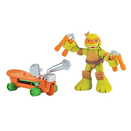Teenage Mutant Ninja Turtles Pre-Cool Half Shell Heroes Michelangelo with Skateboard Figure