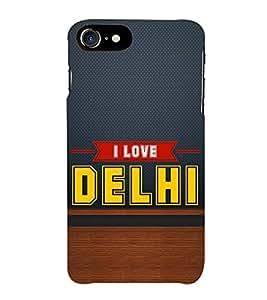 HiFi Designer Phone Back Case Cover Apple iPhone 6S :: Apple iPhone6S ( I love Delhi Blue Wood Look )